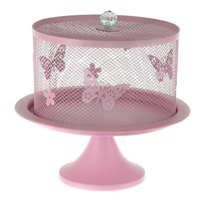 Inart Metal Footed Plate Cake Stand