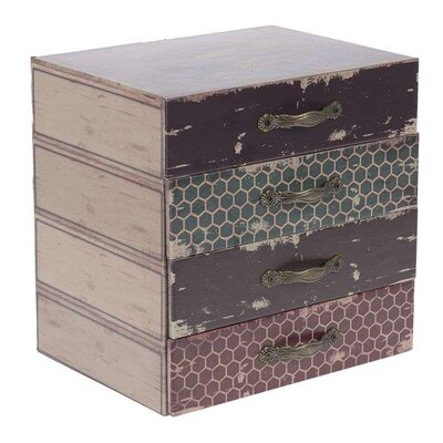 Inart Wooden and Metal Box