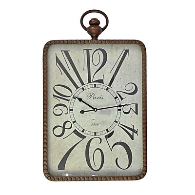 Inart Metal/MDF Wall Clock