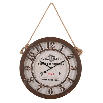 Inart 50cm Metal Wall Clock