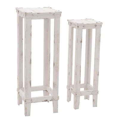 Inart 2 Piece Nesting Plant Stand Set