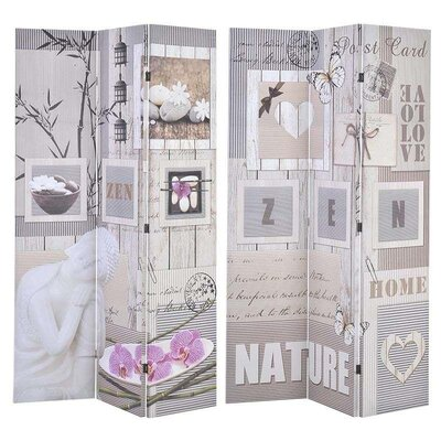 Inart 180cm x 120cm Nature Canvas Printed Screen 6 Panel Room Divider