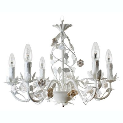 Inart 6 Light Candle Chandelier