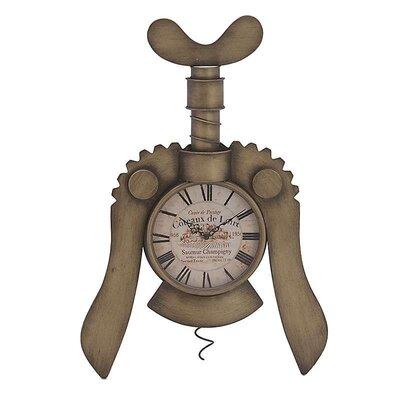 Inart Metal 'Bottle Opener' Wall Clock
