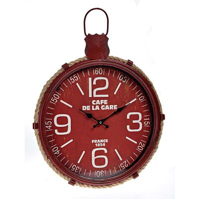 Inart 44cm Metal Wall Clock