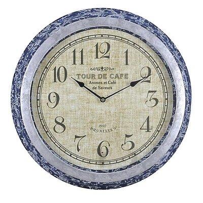 Inart 45cm Metal/Fabric Wall Clock