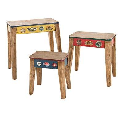 Inart 3 Piece 'Vintage' Coffee Table Set