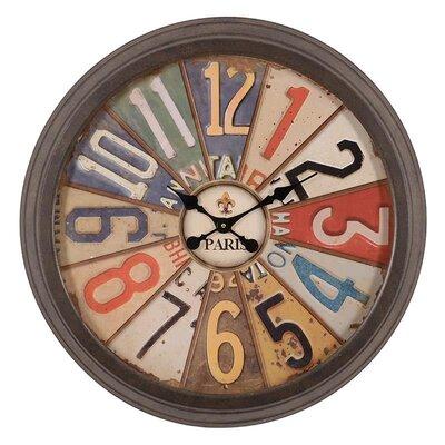 Inart 70cm Metal Wall Clock