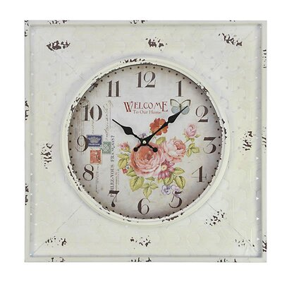 Inart 'Roses' MDF Wall Clock
