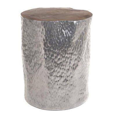 Inart Wooden/Aluminium Stool