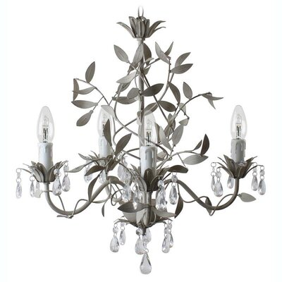 Inart 5 Light Candle Chandelier