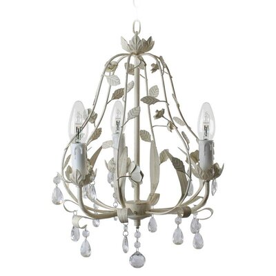 Inart 3 Light Candle Chandelier