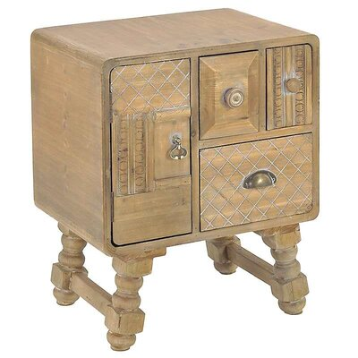 Inart Wooden Commode Chest