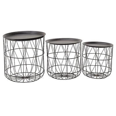 Inart 3 Piece Side Table Set