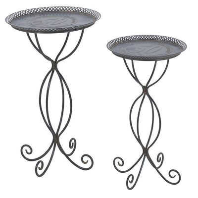 Inart 2 Piece Side Table Set
