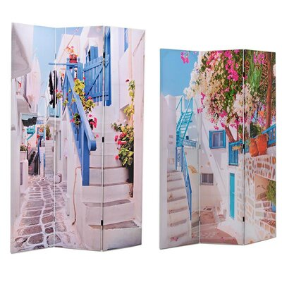 Inart 180cm x 120cm Printed Canvas Screen 3 Panel Room Divider