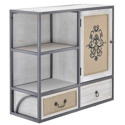 Inart 3 Drawer Wooden/Fabric Cabinet