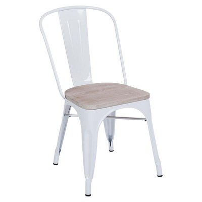 Inart Metal/Wooden Side Chair