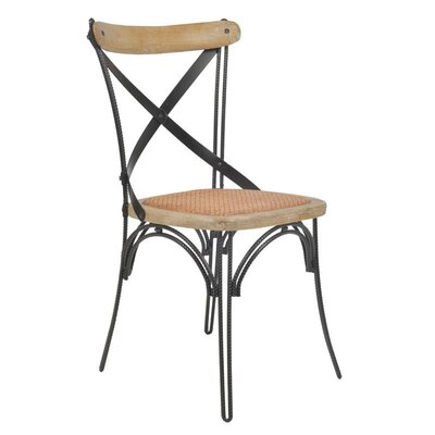 Inart Wooden/Metal Side Chair