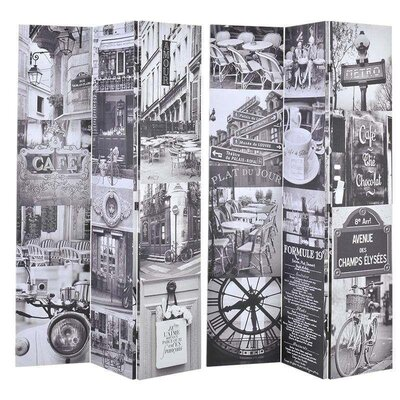 Inart 180cm x 120cm Canvas Printed Screen 6 Panel Room Divider