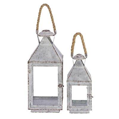 Inart 2 Piece Metal Lantern Set