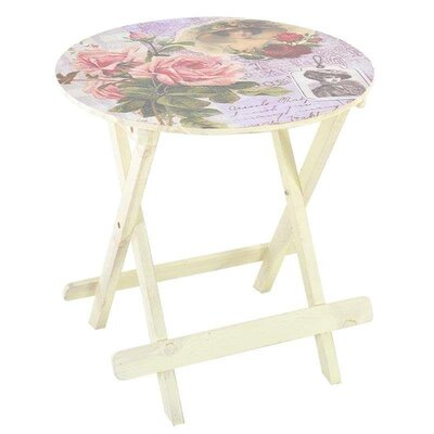Inart 60cm Round Folding Table