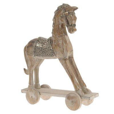 Inart Decorative Wooden/Metal Horse