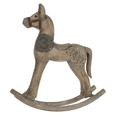 Inart Decorative Wooden Horse