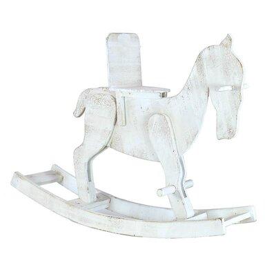 Inart Decorative Wooden Rocking Horse