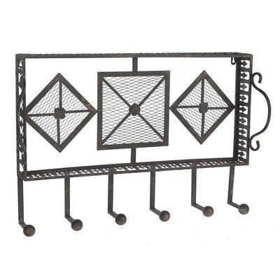 Inart Metal Wall Mounted Coat Rack