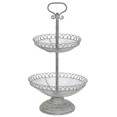 Inart Metal 2 Tiered Stand