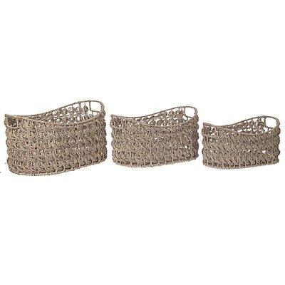 Inart 3 Piece Seagrass Basket Set