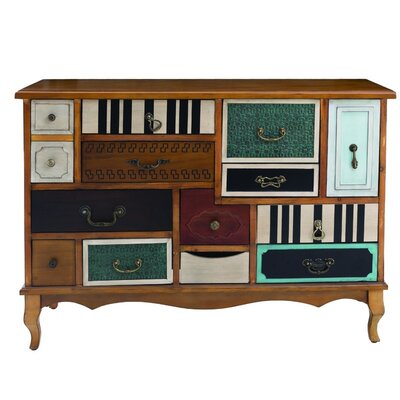 Inart Wooden Multicoloured 13 Drawer Chest