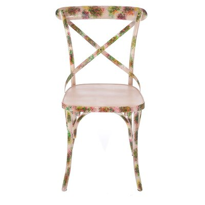 Inart Metal Floral Side Chair