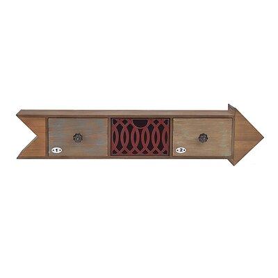 Inart 'Arrow' Wooden/Metal Shelf