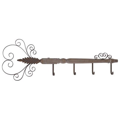 Inart Metal and Wooden Wall Hanger