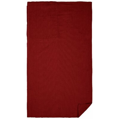 100% Cotton Beach Towel Color: Burgundy Red