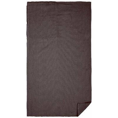 100% Cotton Beach Towel Color: Charcoal Gray