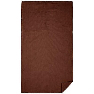 100% Cotton Beach Towel Color: Chocolate Brown