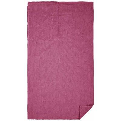 100% Cotton Beach Towel Color: Pink