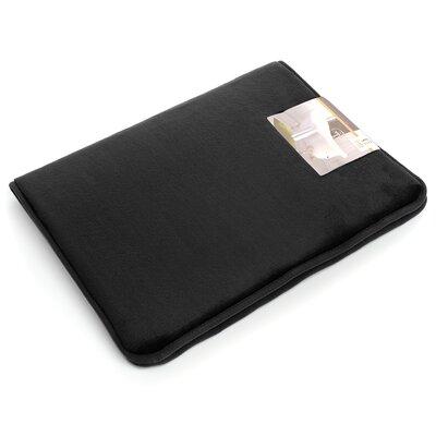 "Non-Slip Memory Foam Tub-Shower Bath Rug Color: Black, Size: 1"" H x 17"" W x 24"" D"
