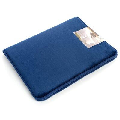 "Non-Slip Memory Foam Tub-Shower Bath Rug Color: Royal Blue, Size: 1"" H x 20"" W x 32"" D"