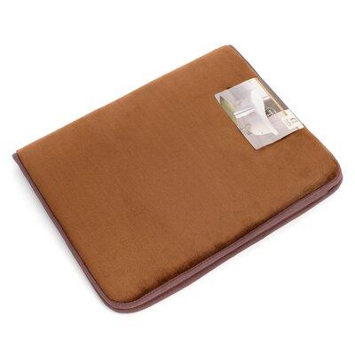 "Non-Slip Memory Foam Tub-Shower Bath Rug Color: Chocolate Brown, Size: 1"" H x 20"" W x 32"" D"