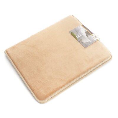 "Non-Slip Memory Foam Tub-Shower Bath Rug Color: Beige/Cream, Size: 1"" H x 17"" W x 24"" D"