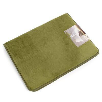"Non-Slip Memory Foam Tub-Shower Bath Rug Color: Sage Green, Size: 1"" H x 17"" W x 24"" D"