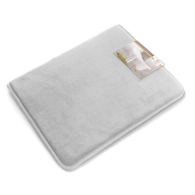 """Non-Slip Memory Foam Tub-Shower Bath Rug Color: Silver Gray, Size: 1"""" H x 17"""" W x 24"""" D"""