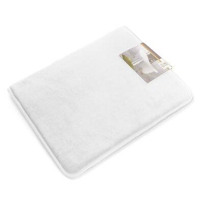 "Non-Slip Memory Foam Tub-Shower Bath Rug Color: White, Size: 1"" H x 17"" W x 24"" D"
