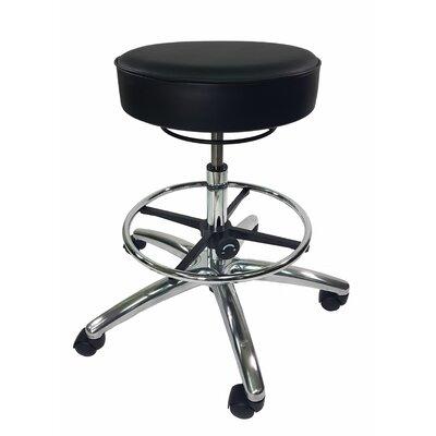 Height Adjustable Lab Stool Color: Black