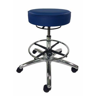 Height Adjustable Lab Stool Color: Blue