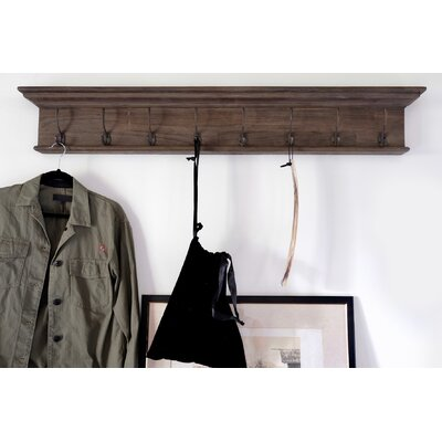 Legrand Wall Mounted Coat Rack Number of Hooks: 6